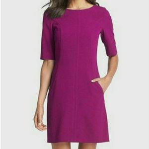 TAHARI Arthur S. Levine Magenta Sheath Dress